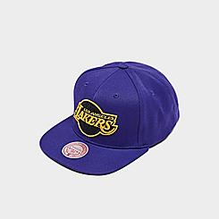 Mitchell & Ness Los Angeles Lakers NBA Black Pop Snapback Hat
