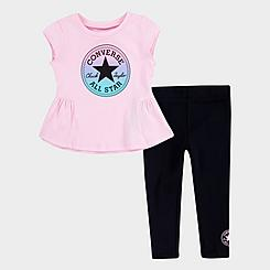 Girls' Infant Converse Ruffle T-Shirt and Leggings Set