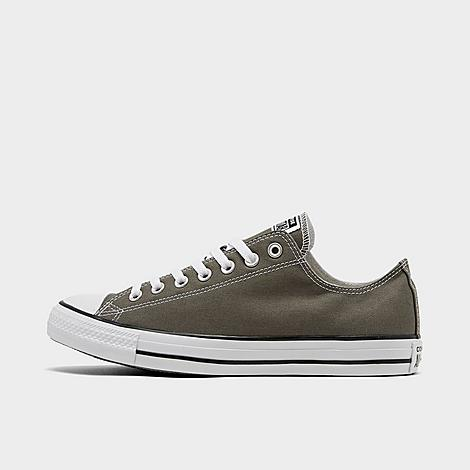 Converse Chuck Taylor All Star Low Top Casual Shoes in Grey/Charcoal Size 10.0 Canvas Sizing Information UNISEX SIZING: Unisex shoes are equal to men's shoe sizing Women, select 2 sizes smaller than your typical shoe size Ex. If you wear a women's size 10, you would select an 8 in this sneaker Men and Big Kids, select your typical shoe size Product Features Clean, classic and as All-American as apple pie, the Converse Chuck Taylor Low has something for everyone. Low top silhouette for style Durable canvas upper Classic Chuck Taylor All Star styling Rubber sole The Converse Chuck Taylor Low Top is imported. Tomboys, fashionistas, sneakerheads and everyone in between can take the iconic Chucks look and adapt it to their style. Low-key canvas meets a vulcanized rubber sole, with All Star branding rounding out this easygoing, wear-everywhere sneaker. Better grab a couple pairs. Whether you dress 'em up or dress 'em down, you'll want to wear them every. single. day. Size: 10.0. Color: Grey. Gender: male. Age Group: adult. Converse Chuck Taylor All Star Low Top Casual Shoes in Grey/Charcoal Size 10.0 Canvas