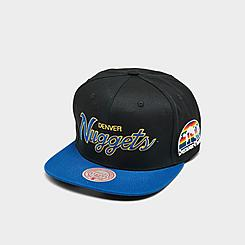 Mitchell & Ness Denver Nuggets NBA Flat Script Snapback Hat