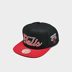 Mitchell & Ness Chicago Bulls NBA Flat Script Snapback Hat