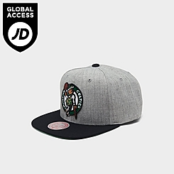 Mitchell & Ness Boston Celtics NBA Heathered Grey Hardwood Classics Pop Snapback Hat