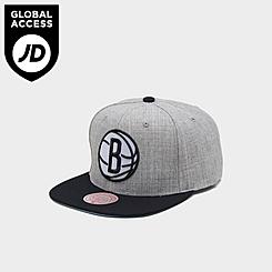 Mitchell & Ness Brooklyn Nets NBA Heathered Grey Hardwood Classics Pop Snapback Hat
