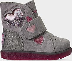 Girls' Toddler Skechers Twinkle Toes: Glitzy Glam - Cozy Sweetheart Hook-and-Loop Boots