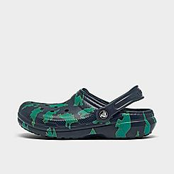 Boys' Little Kids' Crocs Dino Print Lined Clog Shoes
