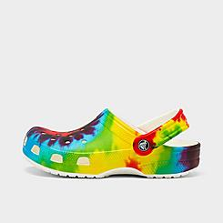 Little Kids' Crocs Classic Tie-Dye Graphic Clog Shoes