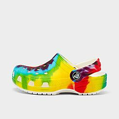 Kids' Toddler Crocs Classic Tie-Dye Graphic Clog Shoes