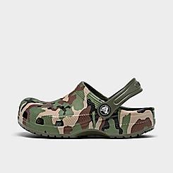 Big Kids' Crocs Classic Camo Clog Shoes