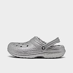 Crocs Classic Glitter Lined Clog Shoes