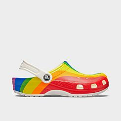 Crocs Classic Rainbow Stripe Clog Shoes