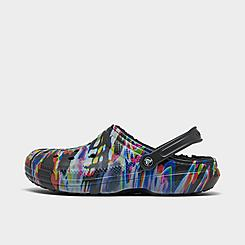 Crocs Classic Tie-Dye Graphic Lined Clog Shoes