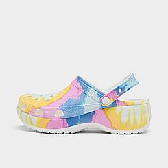 Women's Crocs Classic Platform Tie-Dye Graphic Clog Shoes