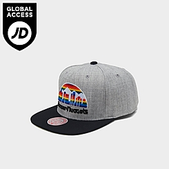 Mitchell & Ness Denver Nuggets NBA Heathered Grey Hardwood Classics Pop Snapback Hat