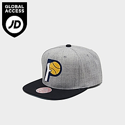 Mitchell & Ness Indiana Pacers NBA Heathered Grey Hardwood Classics Pop Snapback Hat
