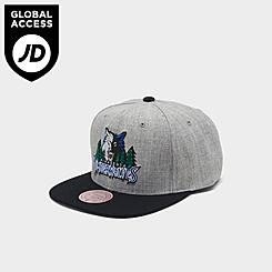 Mitchell & Ness Minnesota Timberwolves NBA Heathered Grey Hardwood Classics Pop Snapback Hat