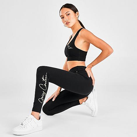 Juicy Sport Women's Script Leggings in Black/Black Size X-Small Size & Fit Tight, figure-hugging fit Elastic waistband sits just right Product Features Smooth and soft sweat-wicking fabric keeps you cool and dry Script Juicy Sport branding at legs Machine wash The Juicy Sport Script Leggings are imported. The brand you've loved for years is here to level-up your cardio to coffee look. The Women's Juicy Sport Script Leggings ensure no matter what you're up to, you get runway-worthy style in a sporty, go-everywhere package. Size: X-Small. Color: Black. Gender: female. Age Group: adult. Juicy Sport Women's Script Leggings in Black/Black Size X-Small