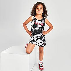 Girls' Toddler Jordan Tie-Dye Tank Romper