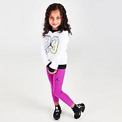 Girls' Toddler Jordan Color Outside The Lines Leggings and Hoodie Set