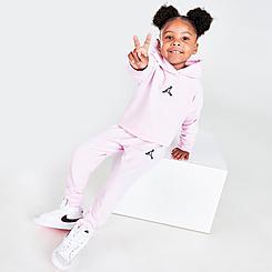Girls' Toddler Jordan Jumpman Essentials Fleece Hoodie and Jogger Pants Set