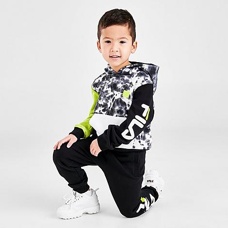 Fila FILA BOYS' TODDLER GIAN TIE-DYE CAMO FLEECE PULLOVER HOODIE AND JOGGER PANTS SET