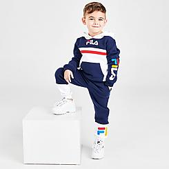 Boys' Toddler Fila Ansel Pullover Hoodie and Jogger Pants Set