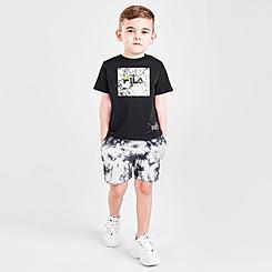 Boys' Toddler Fila Marble Shorts and T-Shirt Set
