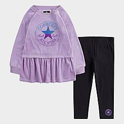 Girls' Toddler Converse Velour Dress and Leggings Set