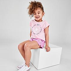 Girls' Toddler Converse Flower Crown Chuck Taylor Logo T-Shirt and Shorts Set