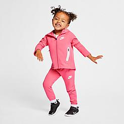 Girls' Toddler Nike Sportswear Full-Zip Hoodie and Pants Tech Fleece Set