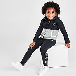 Girls' Toddler Nike Air Full-Zip Hoodie and Leggings Set