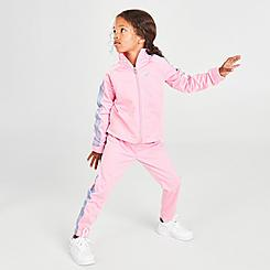 Girls' Toddler Nike Fade Tape Tricot Track Suit