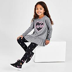 Girls' Toddler Nike Swooshfetti Tunic and Leggings Set
