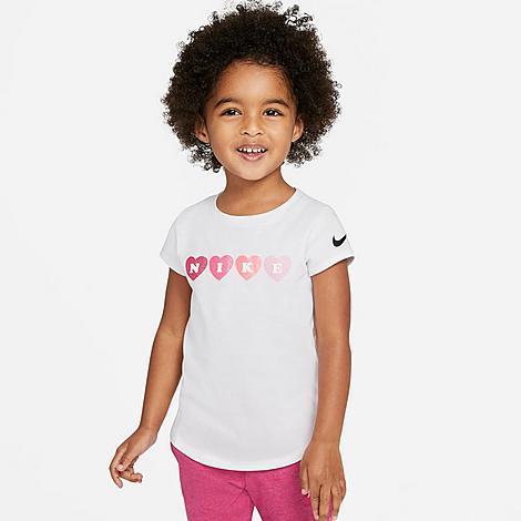 Nike Cottons NIKE GIRLS' TODDLER HEARTS T-SHIRT