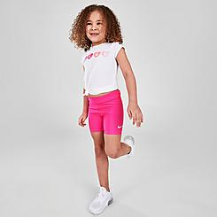 Girls' Toddler Nike High-Waisted Bike Shorts