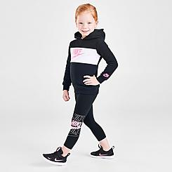 Girls' Toddler Nike Futura Pullover Hoodie and Leggings Set