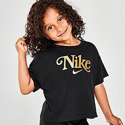 Girls' Toddler Nike Metallic Logo Graphic T-Shirt