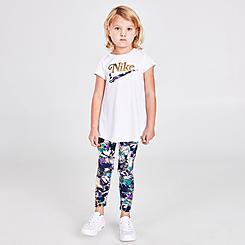 Girls' Toddler Nike Floral Tunic Top and Leggings Set