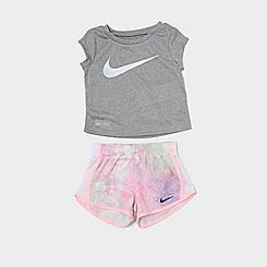 Girls' Toddler Nike Dri-FIT Tie-Dye Just Do It T-shirt and Tempo Shorts Set