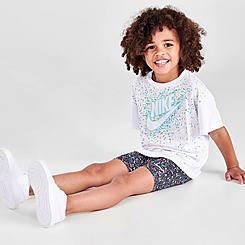 Girls' Toddler Nike Swoosh Sprinkles T-Shirt and Bike Shorts Set