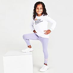 Girls' Toddler Nike Flower Child Crewneck Sweatshirt and Leggings Set