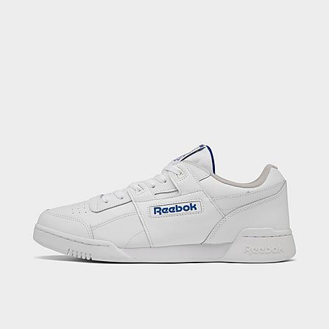 Reebok Men's Workout Plus Casual Shoes in White/White Size 5.5 Leather Supple full-grain leather upper for premium comfort Low-cut design for ankle mobility and an increased range of motion Leather overlays for added durability Iconic H-strap overlay EVA foam midsole provides shock absorption High abrasion rubber outsole for durable traction The Reebok Workout Plus is imported Reebok is taking casual shoes to the next level with the Men's Reebok Workout Plus Casual Shoes. With a minimalistic design and classic Reebok tooling, this model is focused on all-around comfort. Size: 5.5. Color: White. Gender: male. Age Group: adult. Reebok Men's Workout Plus Casual Shoes in White/White Size 5.5 Leather