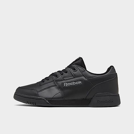 Reebok Men's Workout Plus Casual Shoes in Black/Black Size 5.0 Leather Supple full-grain leather upper for premium comfort Low-cut design for ankle mobility and an increased range of motion Leather overlays for added durability Iconic H-strap overlay EVA foam midsole provides shock absorption High abrasion rubber outsole for durable traction The Reebok Workout Plus is imported Reebok is taking casual shoes to the next level with the Men's Reebok Workout Plus Casual Shoes. With a minimalistic design and classic Reebok tooling, this model is focused on all-around comfort. Size: 5.0. Color: Black. Gender: male. Age Group: adult. Reebok Men's Workout Plus Casual Shoes in Black/Black Size 5.0 Leather