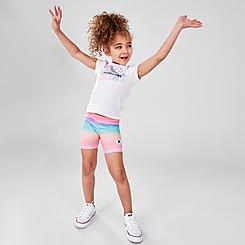 Girls' Toddler Converse Logo T-Shirt and Ombre Bike Shorts Set