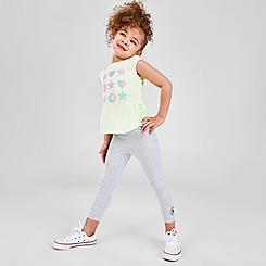 Girls' Toddler Converse Ruffle T-Shirt and Legging Set