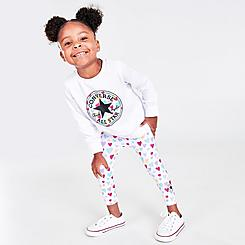 Girls' Toddler Converse Chuck Taylor Patch Fill Long-Sleeve T-Shirt and Leggings Set