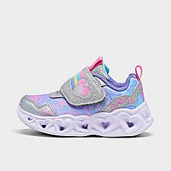 Girls' Toddler Skechers S Lights: Heart Lights - Lovie Dovie Casual Shoes