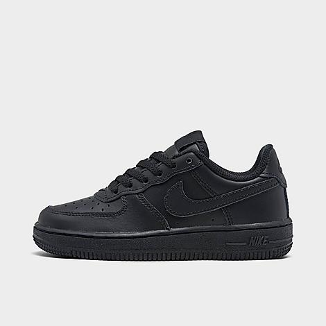 Nike Little Kids' Air Force 1 Casual Shoes in Black/Black Size 1.5 Leather Tumbled genuine, synthetic leather upper provides premium, structured durability Versatile low profile with padding at the tongue and collar Lace closure provides a locked-in fit Perforated construction allows for increased airflow Soft foam midsole wraps feet in plush comfort High-traction grippy rubber sole The Nike Air Force 1 Casual Shoes are imported. Have your active kid lace-up in clean, nostalgic style sporting the Little Kids' Nike Air Force 1 Casual Shoes. Built with a premium mixed tumbled leather upper, their heritage-rooted design is complemented with a soft foam midsole for classic comfort. Size: 1.5. Color: Black. Gender: unisex. Nike Little Kids' Air Force 1 Casual Shoes in Black/Black Size 1.5 Leather