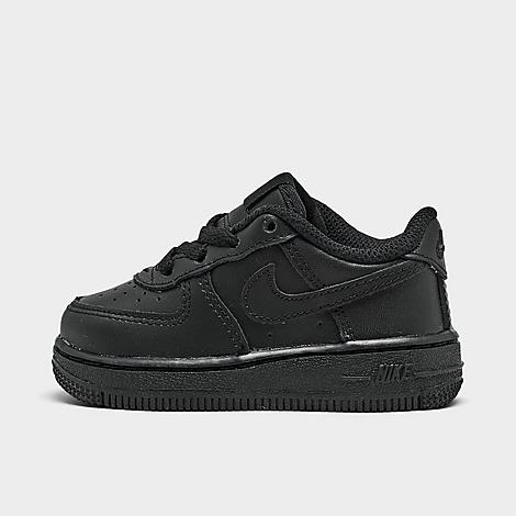 Nike Kids' Toddler Air Force 1 Casual Shoes in Black/Black Size 2.0 Leather Premium-built genuine leather upper Versatile low profile Secured with a lace closure Ventilated construction offers increased airflow Tonal branding Plush soft foam midsole for increased comfort Grippy rubber cupsole construction provides durable traction The Nike Air Force 1 Casual Shoes are imported. Keep your rookie walker wrapped in fresh, clean cushioned comfort with the Kids' Toddler Nike Air Force 1 Casual Shoes. Introducing your kiddo to classic style, they pay homage to a timeless design with a signature silhouette, nonstop cushioned comfort and bold Swoosh logo. Size: 2.0. Color: Black. Gender: unisex. Nike Kids' Toddler Air Force 1 Casual Shoes in Black/Black Size 2.0 Leather