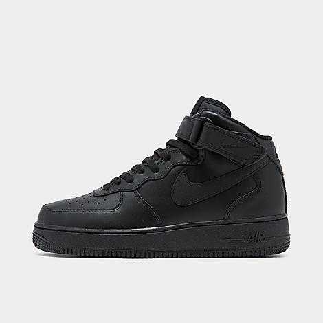 Nike Men's Air Force 1 Mid Casual Shoes in Black/Black Size 10.0 Leather Men's Nike Air Force 1 Mid Casual Shoes: Iconic. Classic. Heritage. All adjectives aptly used to describe the Air Force 1. A model that stands the test of time, and has only continued to gain in popularity since its release in the early 1980s. It has been a mainstay on the feet of everyone from hoops stars to trendsetters to rappers, and continues to ascend into the living legend footwear stratosphere. From classic colorways to newer, upgraded hues, the Air Force 1 Mid continues to reign. Regardless of whether they are low or mid, they continue to be a favorite. Nelly said it best  Them three quarters, them lows, they all tight. Much like other Nike footwear icons, Air Force 1 has gained popularity not only with b-ball enthusiasts, but also indie trendsetters and fashion-seekers. These Men's Nike Air Force 1 Mid Casual Shoes are a winning example. Just slip your feet into these bad boys to experience the superior comfort for yourself. Premium full-grain leather upper on the Air Force 1 Mid Mid-cut design provides a secure fit and support Perforated toe for air ventilation Encapsulated Air-Sole unit for responsive cushioning Non-marking rubber outsole for durable traction The Nike Air Force 1 Mid is imported Size: 10.0. Color: Black. Gender: male. Age Group: adult. Nike Men's Air Force 1 Mid Casual Shoes in Black/Black Size 10.0 Leather