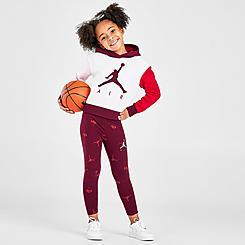 Girls' Jordan Jumpman Pullover Hoodie and Leggings Set